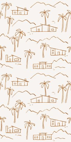 Tree Line Drawing, Roots Drawing, Palm Tree Drawing, Surf House, Tree Illustration, Illustrations, Paper Installation, Tree Wallpaper, Graphic Wallpaper