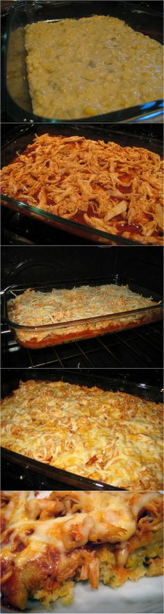 Chicken Tamale Casserole...leave out the corn and use on plan cornbread.