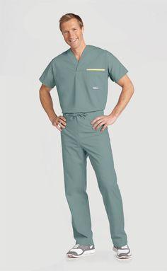Healthcare Uniforms, Men Spa, Doctor Scrubs, Scrubs Outfit, Prada, Lab Coats, Scrub Sets, Medical Scrubs, Men In Uniform