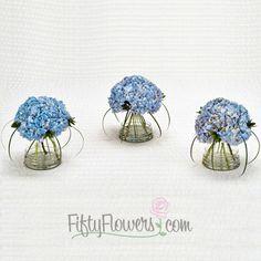 FiftyFlowers.com   Hydrangea Wedding Flowers Box   3 Table. Hydrangea  Wedding FlowersTop FlowersHydrangeasHydrangea ArrangementsSmall ...