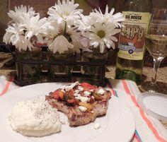 Kathiey's Food and Restaurant Adventures: Recipe Review, Pork Chops with Fresh Tomato, Onion, Garlic and Feta from Allrecipes Magazine