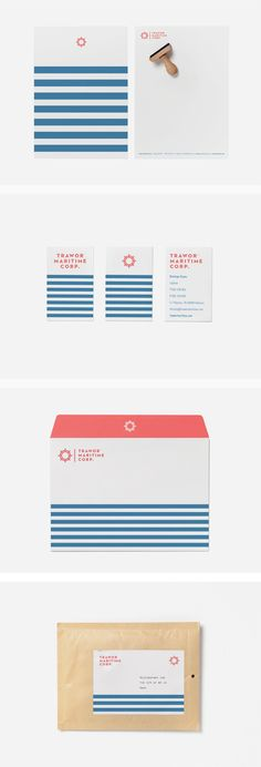 Trawor Maritime Corp. Identity. by Pixelarte, via Behance