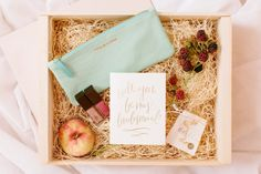 Will you be my bridesmaid box: http://www.stylemepretty.com/2015/01/05/bridesmaid-getting-ready-inspiration/ | Photography: Katie Stoops - http://katiestoops.com/