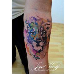 Leon estilos mixtos. Diseño y estilo propio. Cotizaciones y citas únicamente en www.javiwolf.con