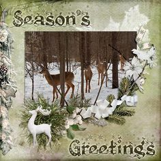 "Season's Greetings.  Created using ""Joyeux Noel - Full kit"" by Mel Designs #theStudio #digitalscrapbooking"