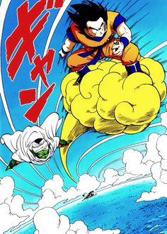 Goku and Piccolo.