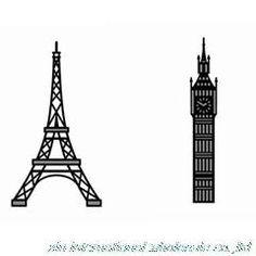 Eiffel Tower Big Ben metal cutting dies scrapbooking sizzix die cuts METAL STEEL STENCILS SCRAPBOOKING tool sizzix embossing