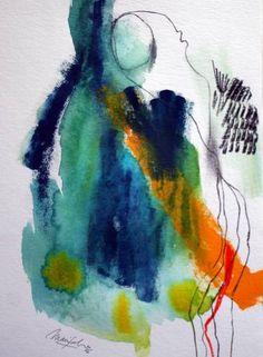"Saatchi Art Artist Marijah Bac Cam; Painting, ""Colored InkPulse I"" #art"