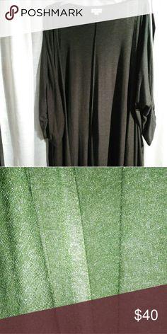 LulaRoe Lindsay Army green Lularoe Lindsay with sparkle medium worn once LuLaRoe Tops