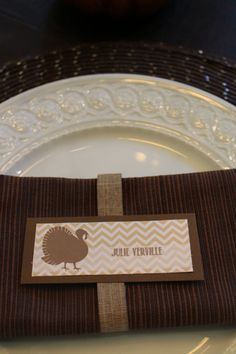 Thanksgiving place card, turkey place card