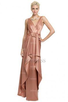 A-Line/Princess V-neck Floor-length Satin Mother of the Bride Dress - IZIDRESSES.com at IZIDRESSES.com