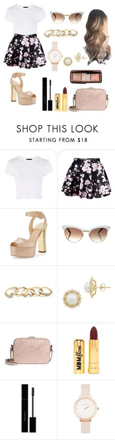 """Untitled #214"" by dri-oliveira on Polyvore featuring Topshop, WithChic, Giuseppe Zanotti, Gucci, GUESS, Lord & Taylor, Chelsea28, Nasty Gal, Olivia Burton and Hourglass Cosmetics"