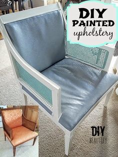 Painting a Vintage Upholstered Chair with Chalk Paint DIY beautify