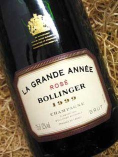 """bollinger grande année rosé 1999, an excellent vintage"" - fifty shades of grey"