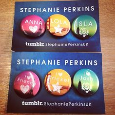 Look what's just arrived at Usborne HQ - stash! We book badges! Kiss Books, Anna And The French Kiss, Stephanie Perkins, Most Romantic, Badges, The Dreamers, Pictures, Tights, Photos