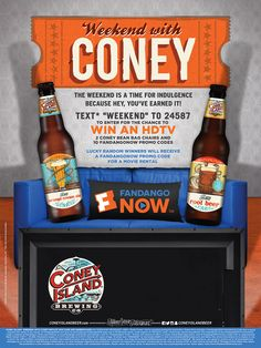 Coney Island - Weekend With Coney Instant Win Game - Fill out form below for a chance to win a FandangoNOW Promo Code