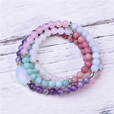 We have mastered the art of manifesting the lives we desire. Now PaybackGift wants to share those experiences with you on this collective journey to happiness. Cleansing Stones, Love Stoned, Aqua Marine, White Opal, Rose Quartz, Serenity, Jewelry Bracelets, Amethyst