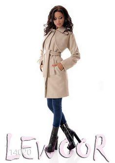 Классическое пальто из кашемира с поясом и болеро - купить оптом и в розницу, интернет-магазин женской одежды lewoor.com