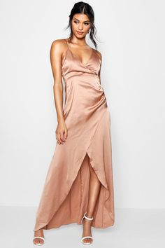 Click here to find out about the Boutique Gillian Satin Wrap Maxi Dress from Boohoo, part of our latest Dresses collection ready to shop online today!