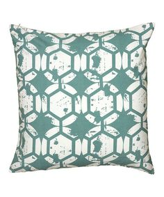Take a look at this Teal Honeycomb & Stars Sham by Rizzy Home on #zulily today!