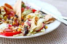 Vegetable Soft Tacos with Chipotle Sour Cream