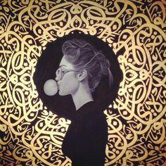 """Képtalálat a következőre: """"Amir Ershadi"""" Arabic Calligraphy Art, Arabic Art, Art And Illustration, Pop Art, Iranian Art, Poster S, Mixed Media Artwork, Islamic Art, Art Blog"""