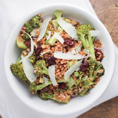 Roasted Broccoli and Wheat Berry Salad :: Culinary Colleen