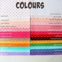 Polka Dot Felt 10 6x9 inch sheets by Gingermelon on Etsy