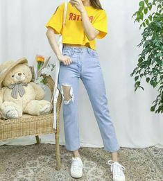 35 ideas fashion korean street style casual for 2019 Korean Girl Fashion, Korean Fashion Trends, Fashion Mode, Ulzzang Fashion, Korean Street Fashion, Korea Fashion, Asian Fashion, Look Fashion, Trendy Fashion