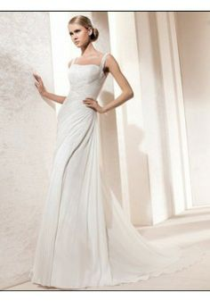 A-line Square Sleeveless Chiffon Wedding Dress #USAHS234 - See more at: http://www.beckydress.com/wedding-dresses.html?p=5#sthash.2w4mNT1R.dpuf