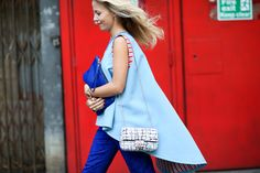 The Most Inspiring Street Style Snaps From London Fashion Week #refinery29  http://www.refinery29.com/london-fashion-week-2014-street-style-photos#slide8  We're putting this girl in charge of colour-coordinating our curtains. Excellent matchy-matchy skills.