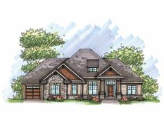 Ranch House Plan with 2291 Square Feet and 3 Bedrooms(s) from Dream Home Source | House Plan Code DHSW65965
