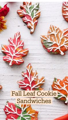 Fun Baking Recipes, Cookie Recipes, Dessert Recipes, Coctails Recipes, Leaf Cookies, Fall Cookies, Christmas Cookies, Fall Recipes, Sweet Recipes