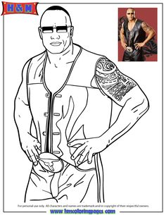 37 Best Coloring Pages Wwe Images In 2016 Page Wwe Coloring