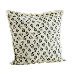 Cushion in cotton (duck feather inside) with removable cover (zipper) and washable at Moving Furniture, Textiles, Printed Cushions, Chair Pads, Cushion Covers, Printed Cotton, Off White, Feather, Pottery