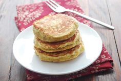 Pancakes don't get any healthier than this. Ripe bananas, shredded coconut and eggs are the only three ingredients in this grain-free, gluten-free banana pancakes recipe.