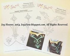 Looking for your next project? You're going to love Princess Anna VEST and SKIRT stencils by designer joy2sew.