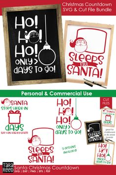 [Promotion] Looking for Christmas Countdown designs for crafting? This svg and cut file bundle is for you! Santa Countdown, Christmas Countdown, Santa Christmas, Christmas 2019, Handmade Christmas, Xmas, Christmas Ornaments, Chalkboard Signs, Small Chalkboard