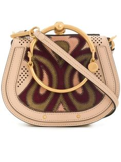 b7925710358 Nile Small Bracelet Paisley Patchwork Beige Pearl Suede And Calfskin  Leather Cross Body Bag