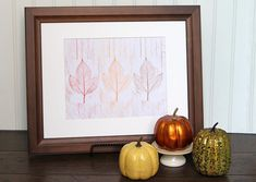 This idea for Leaf Rubbing Fall Decor elevates a traditional kids' craft to an actual work of framable art! Easy Homemade Halloween Costumes, Halloween Signs, Halloween Costumes For Kids, Thanksgiving Crafts For Kids, Thanksgiving Decorations, Seasonal Decor, Fall Home Decor, Autumn Home, Diy Home Decor