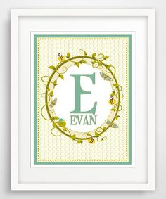 Love this Blue Personalized Giclée Print by Finny and Zook on #zulily! #zulilyfinds
