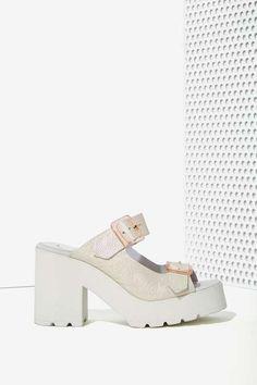 Miista Rachel Iridescent Leather Platform - Shoes