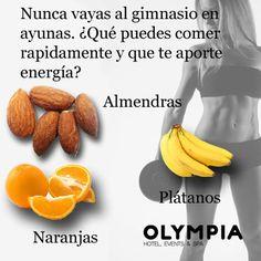 muy importante cuidate..Alimentos que aportan #energía, para antes de ir al #gimnasio