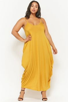Product Name:Plus Size Scoop Neck Maxi Dress, Category:CLEARANCE_ZERO, Price:28