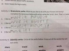 Capuchon à l'école - verbes d'action - anglais - action verbs -
