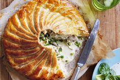 Chicken and white wine pie - a French version of chicken pot pie (some asparagus or zucchini/courgette would be nice, as well!)