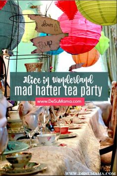 The most beautiful Mad Hatters Tea Party we've ever seen! This Alice in Wonderland themed party for adults is filled with ideas for the perfect Mad Hatter Bridal Shower, birthday party or wedding. Filled with so many Alice in Wonderland decorations inspir Birthday Party Decorations For Adults, Adult Party Themes, Tea Party Decorations, Adult Birthday Party, Birthday Wishes, Diy Birthday, Birthday Party Ideas For Adults 30th, Birthday Nails, Happy Birthday