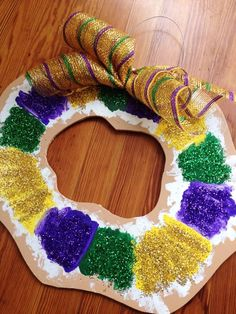 Fleurty Girl - Everything New Orleans - King Cake Door Ornament, $30.