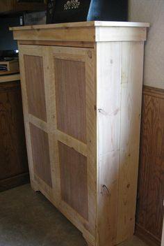 DIY Pallet Pantry - Pallet Cabinet | 99 Pallets