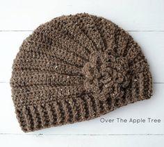 Ladies Flower Beanie Hat, unique design.